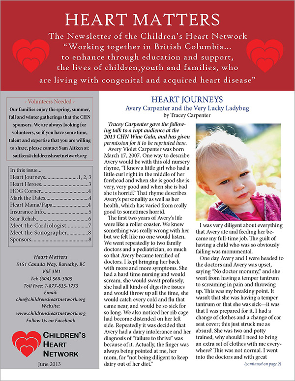Heart Matters Spring 2013