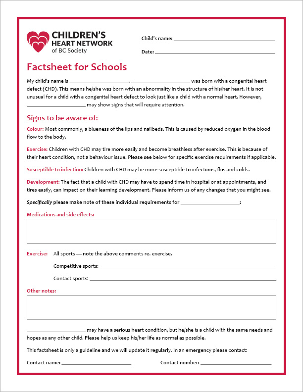 Factsheet for Schools