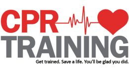 """The words """"CPR Training: Get trained. Save a life. You'll be glad you did."""""""